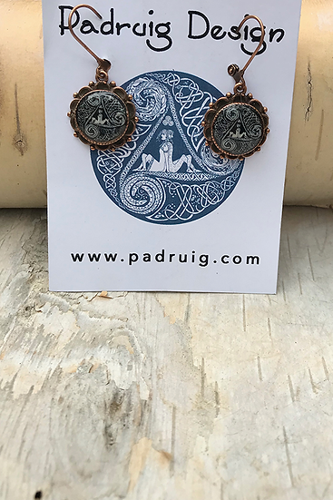 Copper Circle of Life Earrings