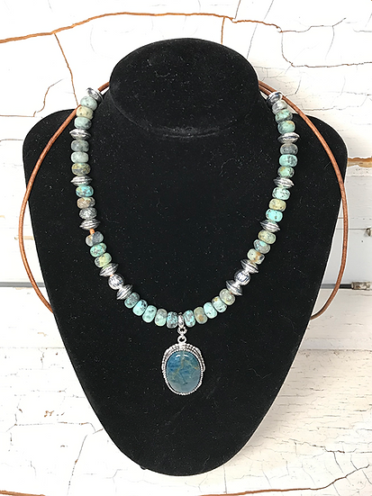 African Turquoise and Blue Apetite Necklace