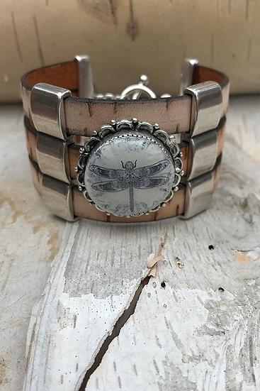 Silver Celtic Dragonfly Bracelet Small