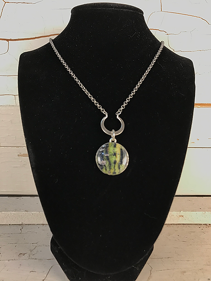 Silver Moose Maple Crescent Necklace
