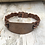 Thumbnail: Hand Stamped Amore Brown Leather Bracelet