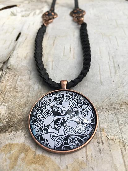 Black Dream Horse Necklace