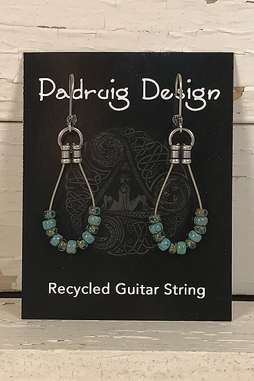 Single Guitar String Earrings