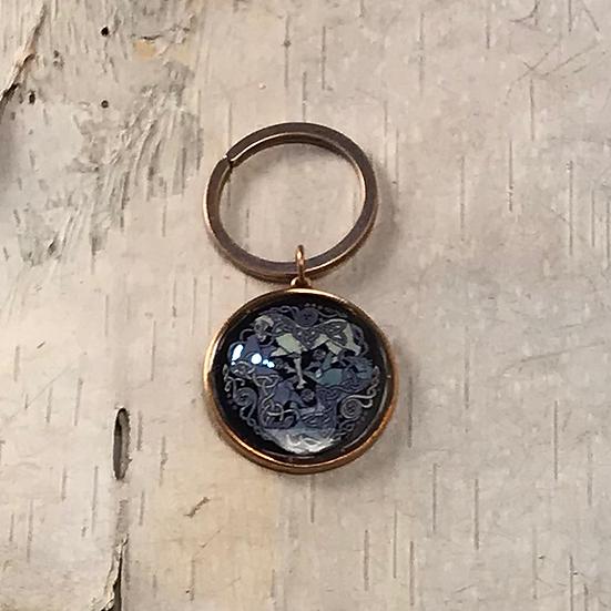 Copper Dream Horses Key Ring