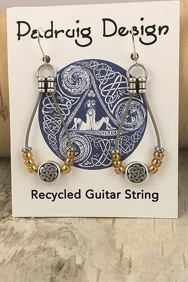 Amber Luster Bass String Earrings