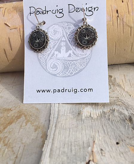 Antique Silver Circle Of Life Earrings