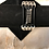 Thumbnail: Black Leather Guitar String Bracelet