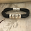 Thumbnail: Inlay Acoustic Guitar String Bracelet Black