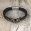 Thumbnail: Black Leather Bass String Bracelet
