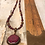Thumbnail: Antique Copper Garnet Troyes Star Necklace