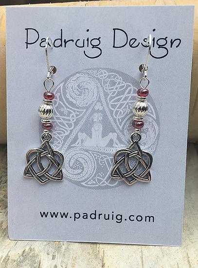 Silver Trinity Heart Earrings