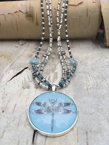 3 Strand Celtic Dragonfly Necklace