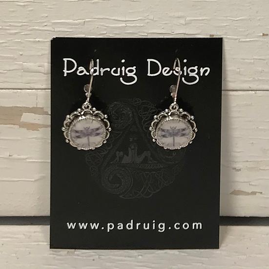 Silver Celtic Dragonfly Earrings