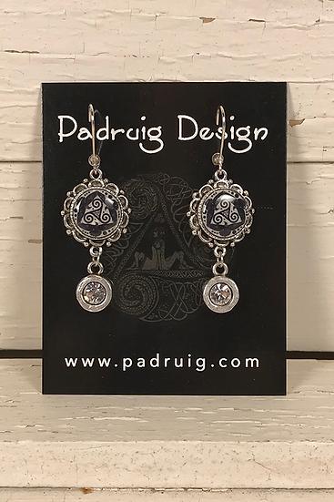 Silver Tri Fitheach Earrings