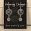 Thumbnail: Silver Tri Fitheach Earrings