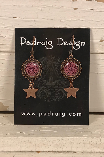 Copper Troyes Star Earrings
