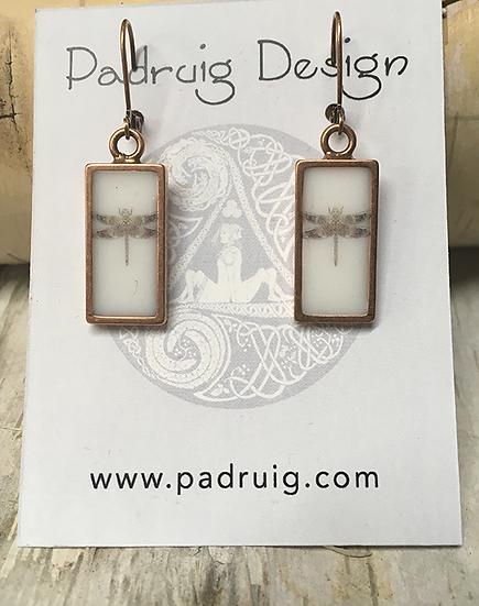 Copper Celtic Dragonfly Earrings
