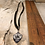 Thumbnail: Silver Cabala Deerskin Lace Necklace
