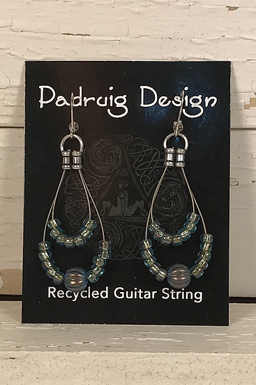 Double Guitar String Earrings