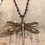 Thumbnail: Copper Dragonfly Necklace Teal Wild Rose