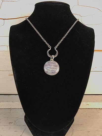 Silver Birch Crescent Necklace