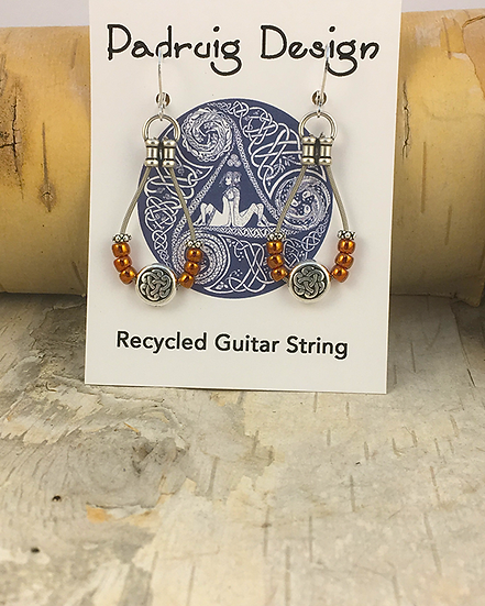 Siam Red Bass String Earrings
