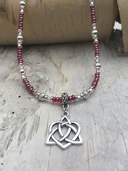Silver Trinity Heart Necklace