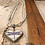 Thumbnail: Antique Silver Violet Dragonfly Heart Necklace