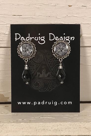 Silver Dream Horses Post Earrings