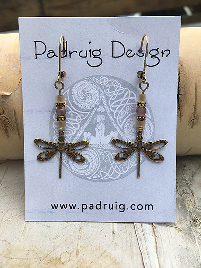 Apollo Gold Dragonfly Earrings