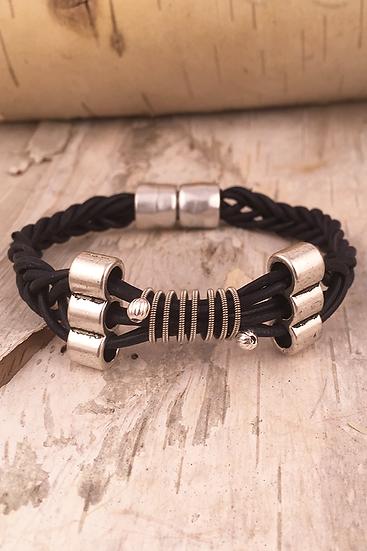 Leather Electric Guitar String Bracelet