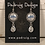 Thumbnail: Silver Celtic Dragonfly Earrings with Crystal Drop