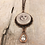 Thumbnail: Copper Sun, Moon, & Stars with Crystal Teardrop Necklace