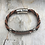 Thumbnail: Brown & Black Leather Electric Guitar String Bracelet
