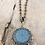 Thumbnail: Silver Blue Helm Of Awe Necklace