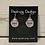 Thumbnail: Silver Celtic Dragonfly Crest Earrings