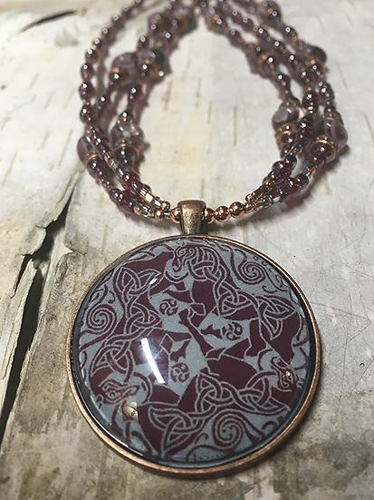 3 Strand Copper Dream Horse Necklace