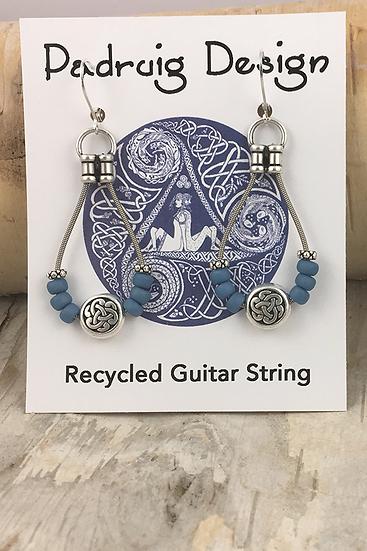 Sky Blue Bass String Earrings