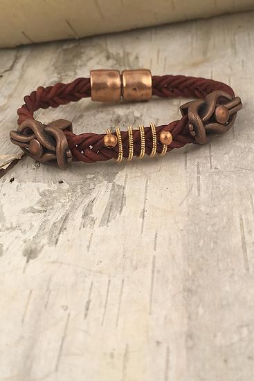 Leather Acoustic Guitar String Bracelet