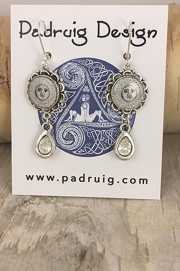 Silver Sun, Moon, & Stars Earrings