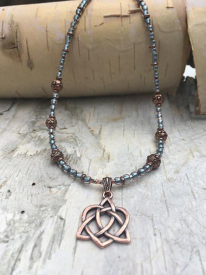 Copper Trinity Heart Necklace