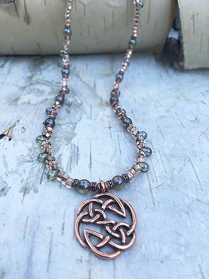 Copper Celtic Knot Necklace