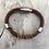Thumbnail: BrownLeather Guitar String Bracelet