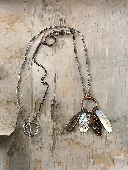 Copper Hoop Wander Necklace