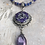 Thumbnail: Antique Silver Tri Fitheach with Amethyst Luster Pear-Shaped