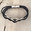 Thumbnail: Silver 3 Circle Guitar String Bracelet