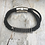 Thumbnail: Black Leather Electric Guitar String Bracelet