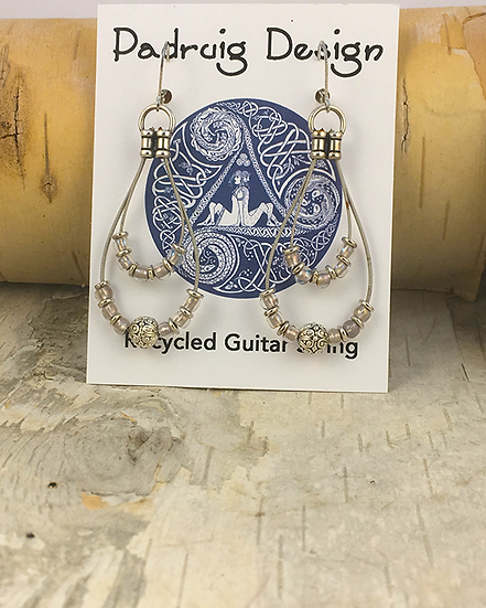 Recycled Guitar String Earrings