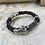 Thumbnail: Indigo Red Leather Electric Guitar String Bracelet