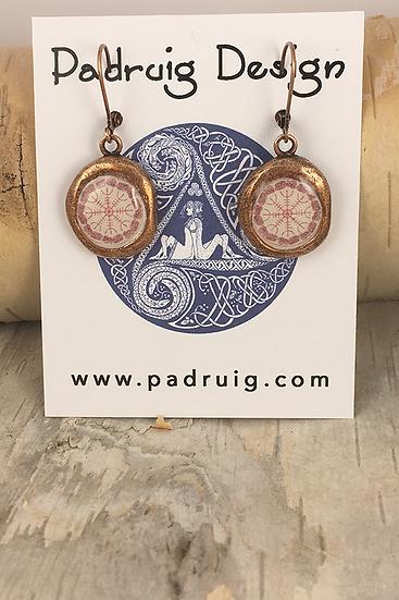 Copper Crest Helm Of Awe Earrings